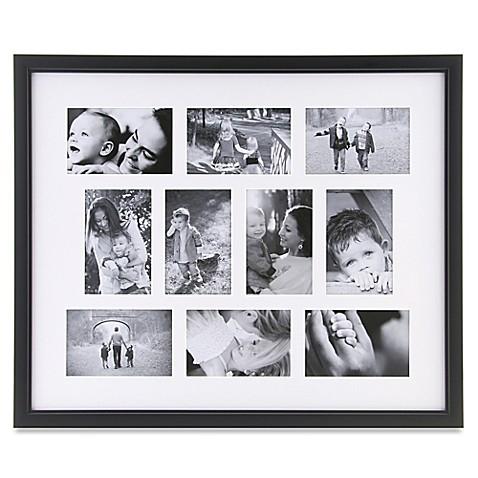 10 photo collage frame in black bed bath beyond. Black Bedroom Furniture Sets. Home Design Ideas