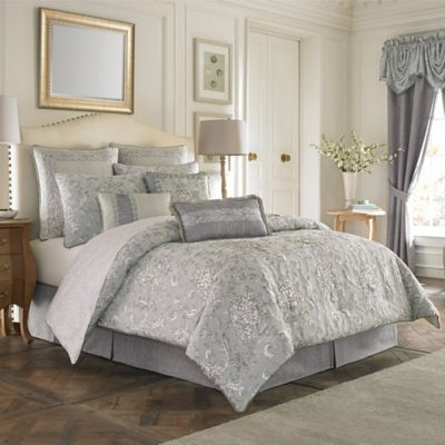 croscill alita reversible queen comforter set in spa