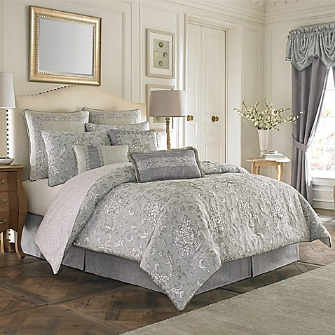 Croscill 174 Alita Reversible Comforter Set In Spa Bed Bath
