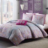 Mizone Keisha Twin/Twin XL Comforter Set in Grey