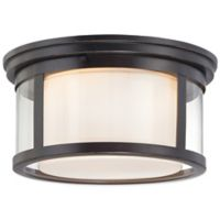 Quoizel Wilson Small Flush-Mount Light in Palladian Bronze