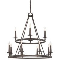 Quoizel® Voyager 12-Light Ceiling-Mount Chandelier in Malaga