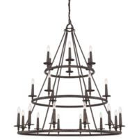 Quoizel® Voyager 24-Light Ceiling-Mount Chandelier in Malaga