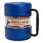 Vittles Vault Travel-Tainer Pet Bowl in Blue