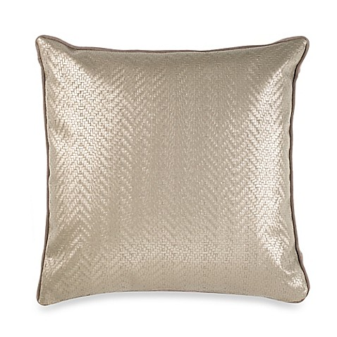 Throw Pillows Taupe : Vetty Square Throw Pillow in Taupe - Bed Bath & Beyond