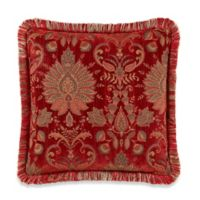 Heritage Square Throw Pillow in Red