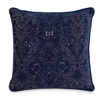 Buy Navy Gold Throw Pillow from Bed Bath & Beyond