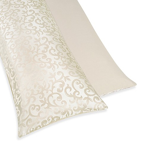 Sweet jojo designs victoria maternity body pillow case in for Bed bath beyond maternity pillow