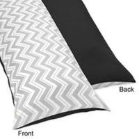 Sweet Jojo Designs Zig Zag Maternity Body Pillow Case in Black/Grey