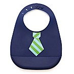 Bella Tunno Mini Mister Tie Stripe Silicone Wonder Bib in Navy/Green