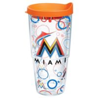 Tervis® MLB Miami Marlins 24 oz. Bubble Up Wrap Tumbler with Lid