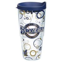 Tervis® MLB Milwaukee Brewers 24 oz. Bubble Up Wrap Tumbler with Lid