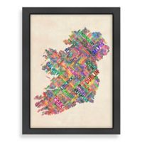 Americanflat Art Pause Ireland World Map Wall Art