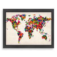 Americanflat World Map Heart Wall Art