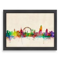 Americanflat Art Pause London Colored Panoramic Skyline Wall Art