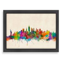 Americanflat Art Pause New York City Colored Panoramic Skyline Wall Art
