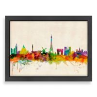 Americanflat Art Pause Paris Colored Panoramic Skyline Wall Art