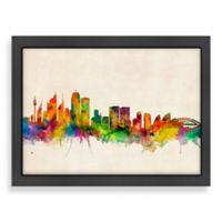 Americanflat Art Pause Sydney Colored Panoramic Skyline Wall Art