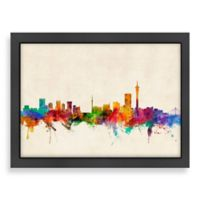 Americanflat Art Pause Johannesburg Colored Panoramic Skyline Wall Art