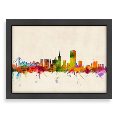 Superbe Americanflat Art Pause San Francisco Colored Skyline Wall Art