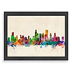 Americanflat Art Pause Chicago Colored Panoramic Skyline Wall Art