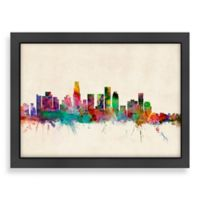 Americanflat Art Pause Los Angeles Colored Panoramic Skyline Wall Art