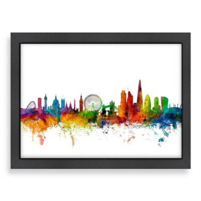 Americanflat Art Pause London Colored Skyline Wall Art