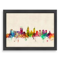 Americanflat Art Pause Perth Colored Panoramic Skyline Wall Art