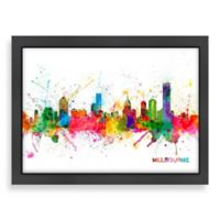 Americanflat Art Pause Melbourne Colored Skyline Wall Art