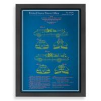Americanflat Batmobile Blueprint Wall Art