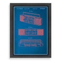 Americanflat Vintage BoomBox Blueprint Wall Art