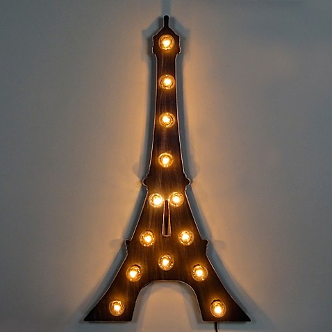 Marquee Eiffel Tower Light Up Sign