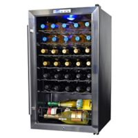 NewAir 33-Bottle Single-Zone Wine Cooler in Stainless Steel