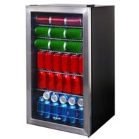 NewAir 126-Can Beverage Cooler in Stainless Steel