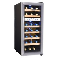 NewAir 21-Bottle Dual-Zone Thermoelectric Wine Cooler in Stainless Steel