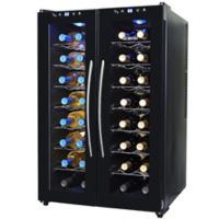 NewAir 32-Bottle Dual-Zone Thermoelectric Wine Cooler in Black