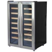 NewAir 32-Bottle Dual-Zone Thermoelectric Wine Cooler in Stainless Steel