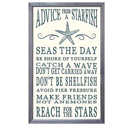 advice from a starfish framed sign wall d cor bed bath