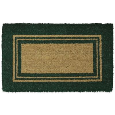 Mohawk Basic Border 18-Inch x 30-Inch Coir Door Mat in Green
