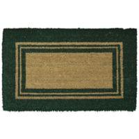 Mohawk Basic Border 18-Inch x 30-Inch Coir Door Mat in Green