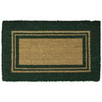 Mohawk Basic Border 23-Inch x 35-Inch Coir Door Mat in Green