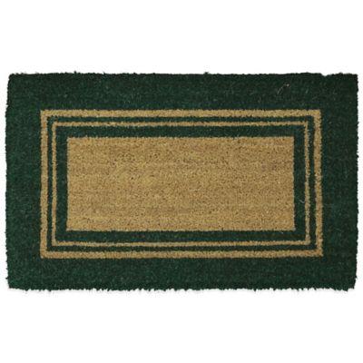 Mohawk Basic Border 30 Inch X 48 Inch Coir Door Mat In Green