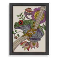 Americanflat Valentina Ramos Phileus Frog Digital Print Wall Art with Black Frame
