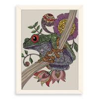 Americanflat Valentina Ramos Phileus Frog Digital Print Wall Art with White Frame