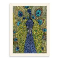 Americanflat Valentina Ramos The Peacock Digital Print Wall Art with White Frame