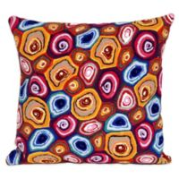 Liora Manne Murano Swirl 20-Inch x 20-Inch Outdoor Throw Pillow in Jewel