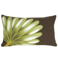 Liora Manne Palm Fan 12-Inch x 20-Inch Outdoor Throw Pillow in Chocolate