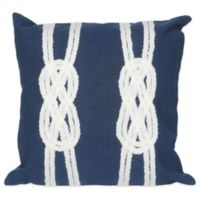 Liora Manne Double Knot 20-Inch x 20-Inch Outdoor Throw Pillow in Navy