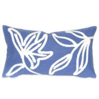 Liora Manne Windsor 12-Inch x 20-Inch Outdoor Throw Pillow in Blue