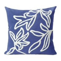 Liora Manne Windsor 20-Inch x 20-Inch Outdoor Throw Pillow in Blue